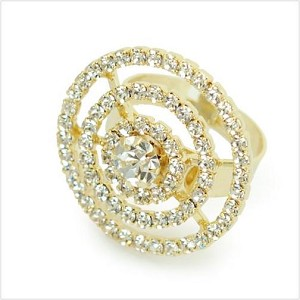 Triple Layered Crystal Circle Ring - Sold In-Store Only