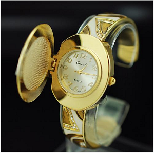 Trendy Covered Bangle Watch