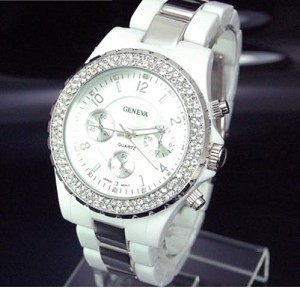 Trendy Large Crystal Face Watch